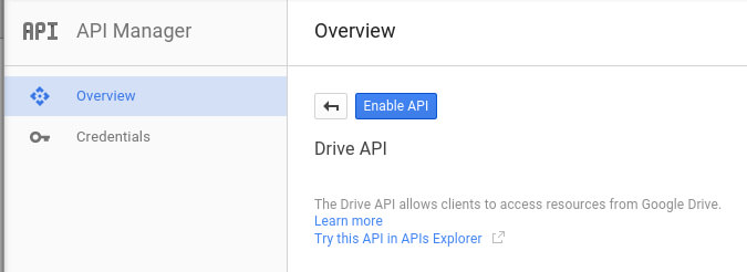 enable api