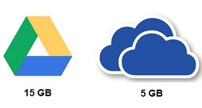 google drive vs. onedrive: storage