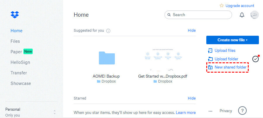 how to run dropbox on two accounts 3
