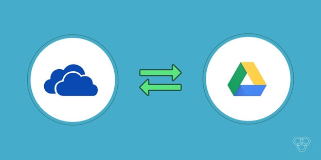 Move file between google drive and onedrive