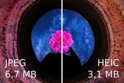 video quality heic vs jpg