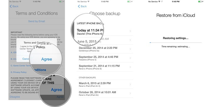 transfer iPhone data to new iPhone using icloud backup