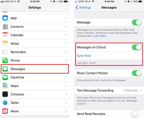 copia de seguridad de los mensajes de iPhone a iCloud