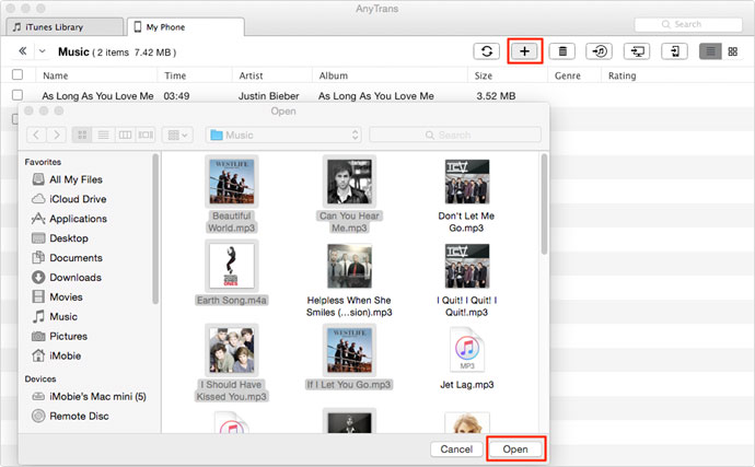 how to send music from computer to iphone
