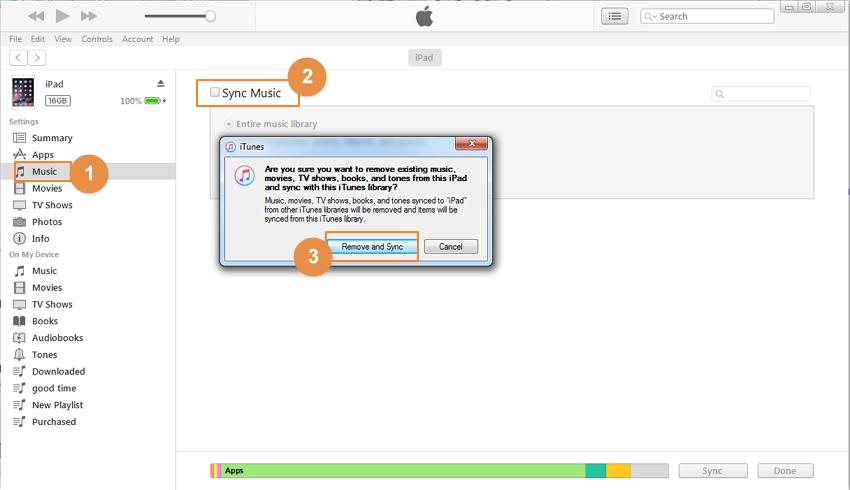 Übertragen von Musik vom Computer auf das iPad mit iTunes