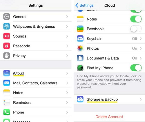 How to upload photos to icloud from iphone 6s plus