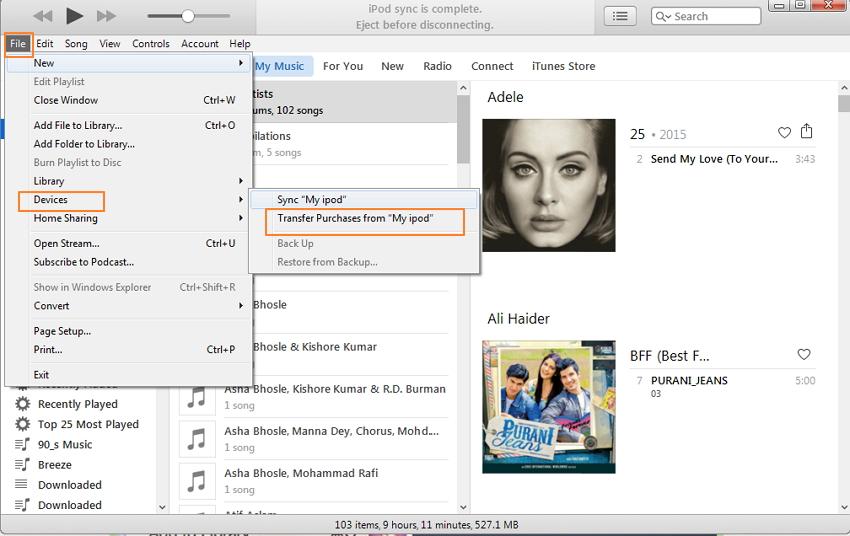 如何在不丢失任何数据的情况下将音乐从iPod传输到新计算机