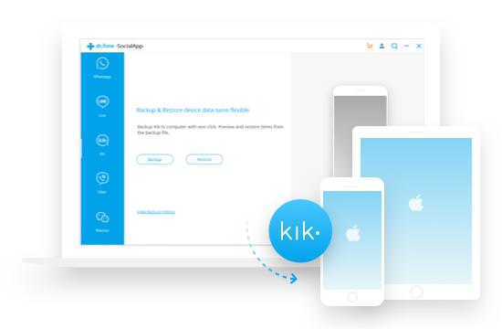 Kik-Nachrichten auf dem iPhone/iPad sichern