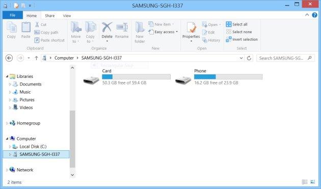 salvaguardar fotos no samsung com um cabo usb