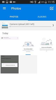 salvaguardar fotos no samsung com o dropbox