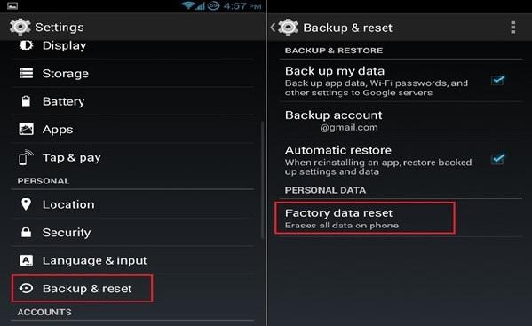 restaurar o celular android para o estado anterior
