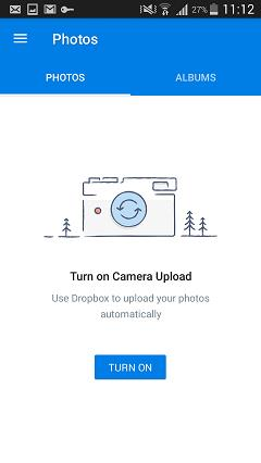salvaguardar fotos no android com a drop box