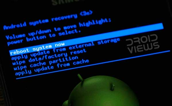 como reinicializacao do sistema android
