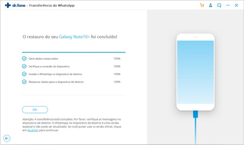 mensagens whatsapp restauradas para android