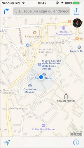 visualize a localização no iphone