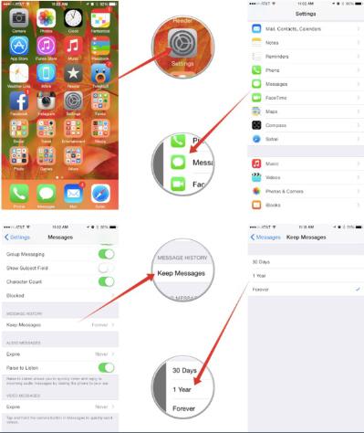 como excluir automaticamente as mensagens antigas no seu iphone