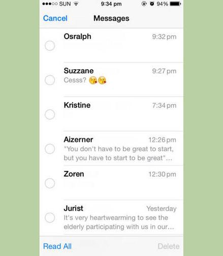 como apagar varias mensagens em seu iphone