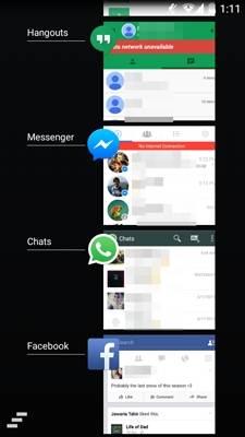 nao consegue enviar e receber mensagens atraves do messenger
