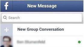 como pesquisar mensagens do facebook messenger no android