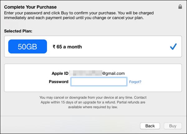 como atualizar iCloud armazenamento no mac