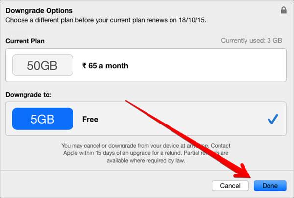 como armazenamento de downgrade no iphone/ipad/mac/windows pc