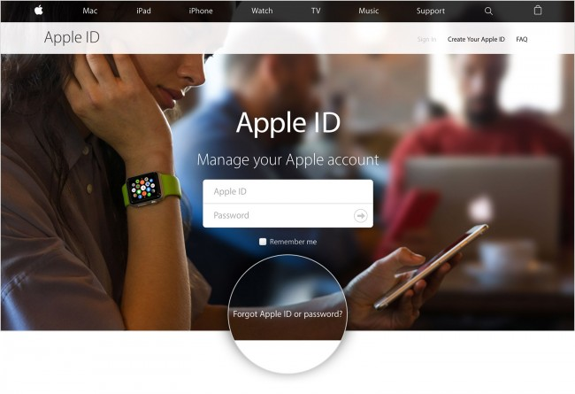 recuperar o seu id da apple