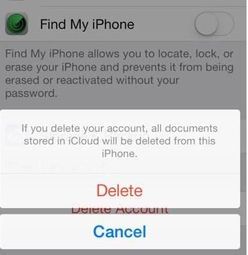 Como remover a conta do iCloud