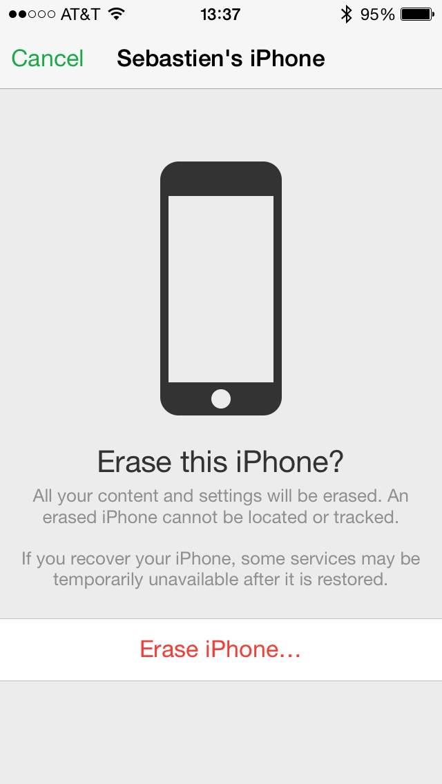Confirmar apagar iphone