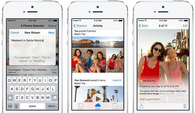 how to use Photo Stream on iCloud