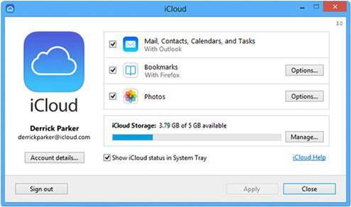 set up iCloud on PC