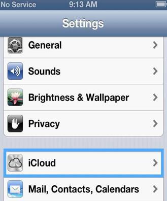 Sincronizar iPhone com iCloud