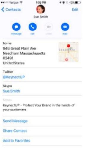 novos recursos de contatos no iOS 10