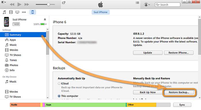 como fazer backup de mensagens de texto a partir de um iphone via itunes