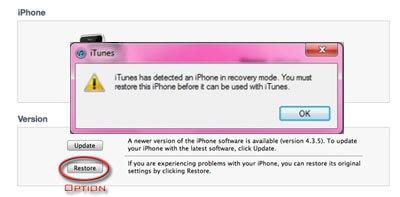 reparar o problema do iphone bloqueado no modo de recuperacao com o itunes