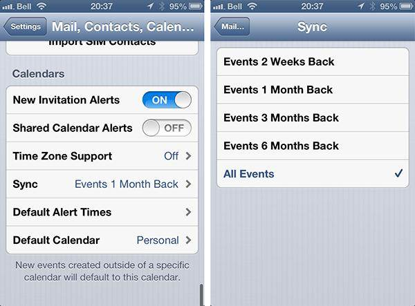 problemas de calendario para iphone