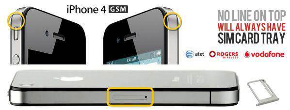 como saber as diferencas entre o iphone 4 gsm e iphone 4 cdma