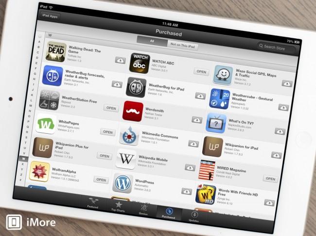 como reinstalar aplicativos comprados