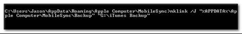 como alterar a localizacao do itunes de backup