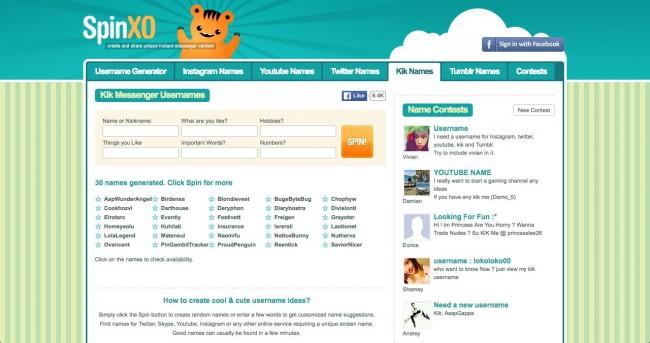 os 10 melhores sites para bons bonitos e legais nomes do kik