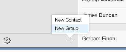 mensagem em grupo no iphone