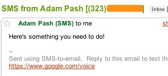 enviar e mail atraves de mensagens de texto