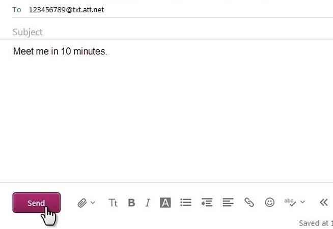 enviar mensagens de texto via e mail