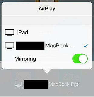 mirror iphone to mac using airplay