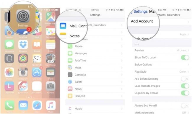 sincronizando notas em iphone e ipad