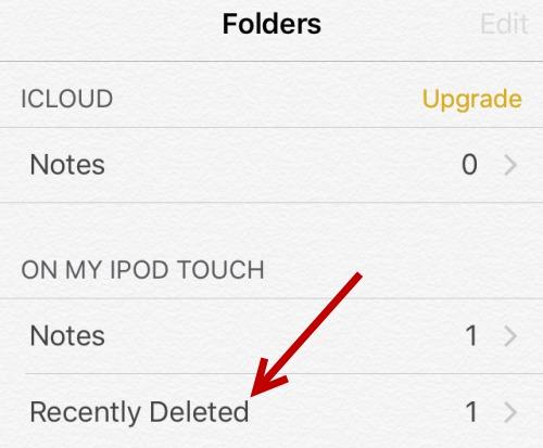 a melhor maneira de recuperar notas suprimidas do ipad
