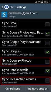 nao consigo excluir imagens do album do backup automatico no galaxy s4 apos exclui las do google e picasa