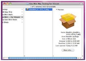 como usar o kies mini para mac