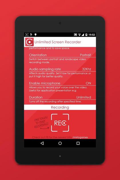 gravação de vídeo para Android