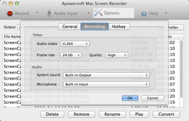 melhor gravador de tela para Mac