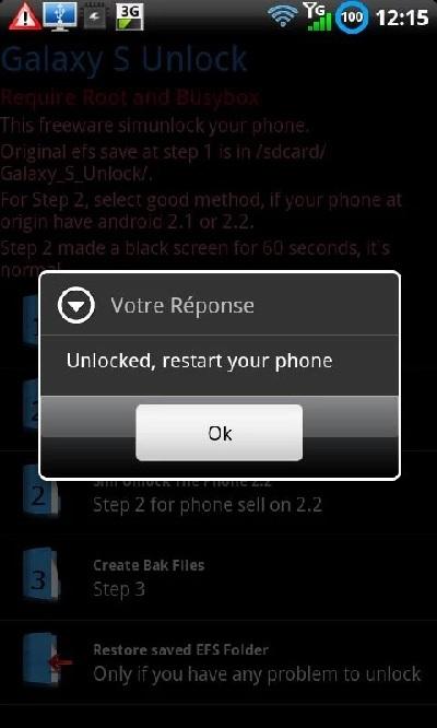 desbloquear o sim usando galaxy s unlock